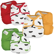 Elemental Joy Pocket Cloth Diapers Sets (Inserts Included) - 6 Pack