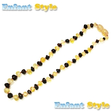 Healing Amber Baby Baltic Amber Teething Necklace - Molasses & Gold