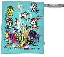 Itzy Ritzy Travel Happens Large Wet Bag with Handle - Tokidoki Underwater Adventure