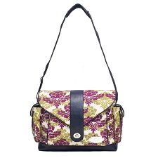 JJ Cole Boutique Diaper Bag - MYLA Bag - Boysenberry Fleur