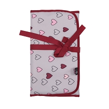 Ju Ju Be Memory Foam Changing Pad - Happy Hearts