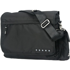 Ju Ju Be Messenger Diaper Bag - Black Silver
