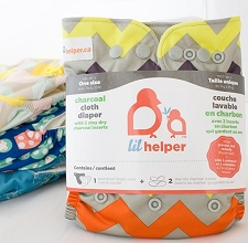 Lil Helper Charcoal Cloth Diaper