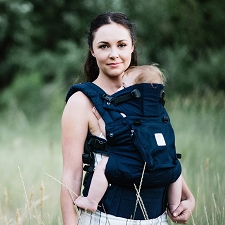 Lillebaby COMPLETE Organic 6-IN-1 Six-Position Carrier - Blue Moonlight