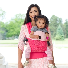 Lillebaby COMPLETE Embossed Carrier - LUXE - Pink Ribbon