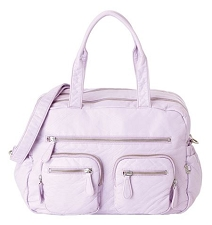 OiOi Faux Lizard Carry All Diaper Bag - Lilac