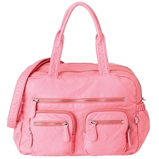OiOi Faux Lizard Carry All Diaper Bag - Pink Lemonade