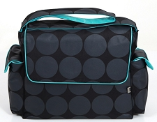 OiOi Dot Messenger with Turquoise Interior