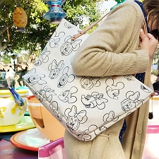 Downtown Tote - Disney Collection - Sketchbook Mickey & Minnie