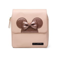 Minnie Me Boxy Backpack in Minnie Factor Blush & Metallic Leatherette