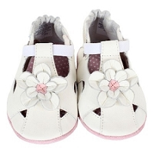 Robeez Soft Soles - Pretty Pansy White