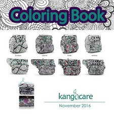KangaCare Coloring Book - 4 Pack of Rumparooz One Size Cloth Diapers