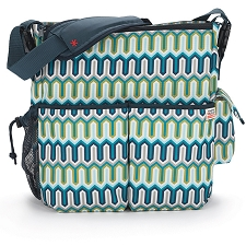 Skip Hop Duo Deluxe Diaper Bag - Chevron Blue