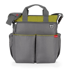 Skip Hop Duo Signature Diaper Bag - Charcoal/Lime