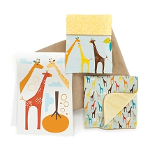 Skip Hop Giraffe Safari Complete Sheet Bedding - 4 PCS Set