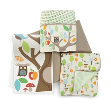Skip Hop Treetop Friends Complete Sheet Bedding - 4 PCS Set