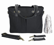 SoYoung Black Emerson Diaper Tote w/ Black Handles