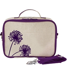 SoYoung Raw Linen Lunch Box - Purple Dandelion