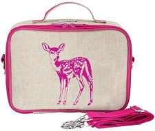 SoYoung Raw Linen Lunch Box - Pink Fawn
