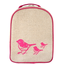 SoYoung Matching Lunch Box to Toddler Backpack - Pink Birds