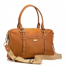 StorkSak Elizabeth Diaper Bag - Tan