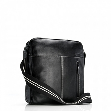 StorkSak Jamie Diaper Bag - Leather Black