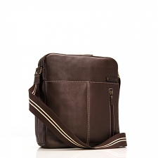 StorkSak Jamie Diaper Bag - Leather Espresso