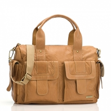 StorkSak Sofia Diaper Bag - Tan