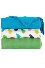 Tula Blanket Set - Rainbow Hearts Oliver
