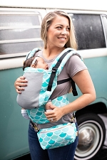 Tula Free-to-Grow Baby Carrier - Coast Syrena Sky
