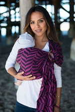 Tula Wrap Conversion Ring Sling - Migaloo Raspberry