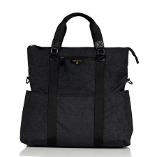TWELVElittle Unisex 3-in-1 Foldover Tote - Black