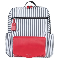 TWELVElittle Peek-A-Boo Backpack Diaper Bag - Stripe Red