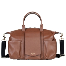 TWELVElittle Peek-A-Boo Satchel Diaper Bag - Toffee
