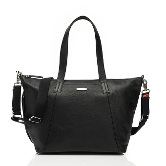 StorkSak Noa Diaper Bag - Leather Black