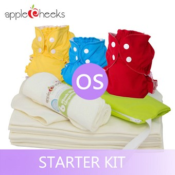 AppleCheeks One Size Cloth Diaper Starter Kit