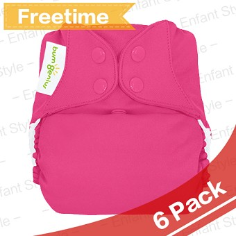 bumGenius Freetime All-In-One One-Size Cloth Diaper - 6 Pack