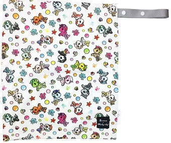 Itzy Ritzy Travel Happens Large Wet Bag with Handle - Tokidoki Mermicorno Allstars