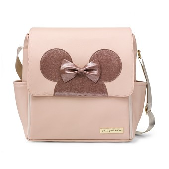 Boxy Backpack in Minnie Factor Blush & Metallic Leatherette