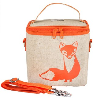 SoYoung Raw Linen Small Cooler Bag - Orange Fox