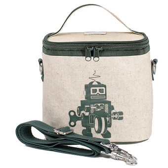 SoYoung Raw Linen Small Cooler Bag - Grey Robot