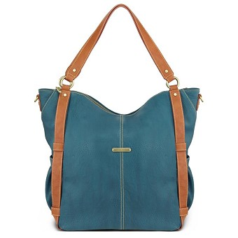 Timi & Leslie Marcelle 7-Piece Diaper Bag Set - Teal/Saddle