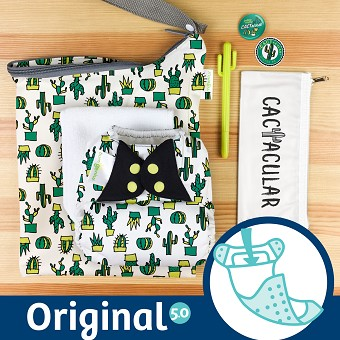 MONTH #4 - CACTacular bumGenius 5.0 Cloth Diaper Set