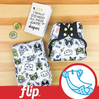 MONTH #2 - CATtitude Flip Diaper Cover Set