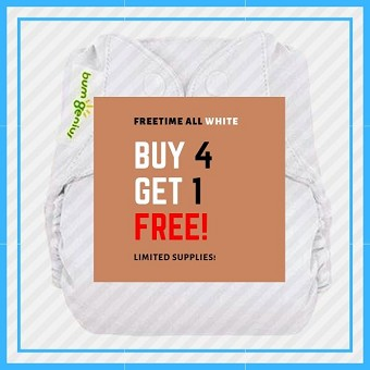 BUY 4 GET 1 FREE - bumGenius Freetime Diapers - Limited to 4 Colors