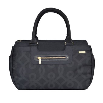 JJ Cole Parker Diaper Bag - Black & Gold