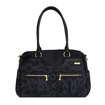 JJ Cole Satchel Diaper Bag - Black & Gold