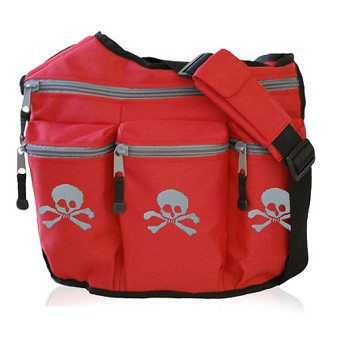 Diaper Dude Original Diaper Bag - Red Skull