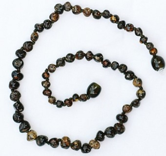 Healing Amber Baby Baltic Amber Teething Necklace - Molasses Olive Speckle