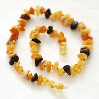 Healing Amber Baby Baltic Amber Teething Necklace - Multi Chunky